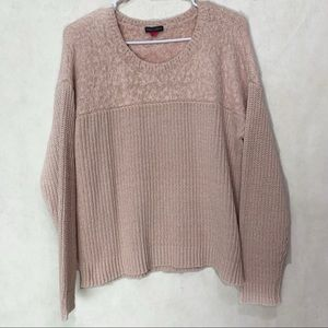 Vince Camuto Dusty Pink Fuzzy Sweater